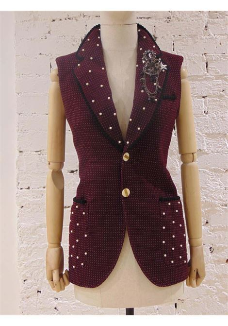 Soab Sun of a Beach Capri Bordeaux Sleeveless Wool Blazer Soab Capri | Blazers | 08BORDEAUX