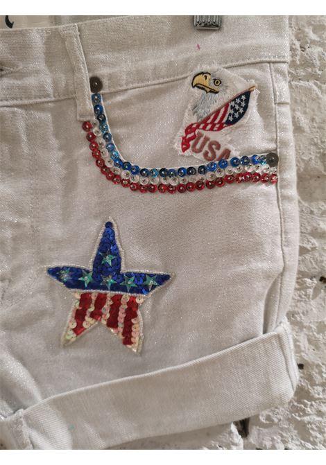 White customised SOAB shorts Soab Capri | Shorts | 102AMERICA