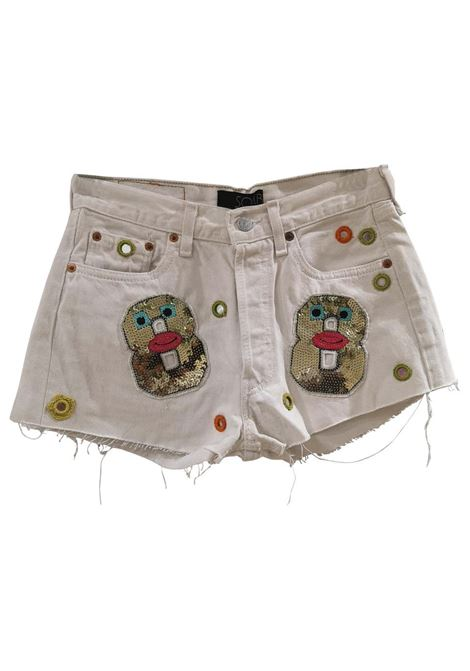 White customised SOAB shorts Soab Capri | Shorts | 106FIORI