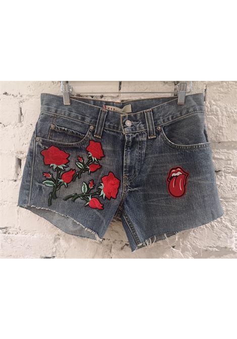 SOAB blue roses tongue shorts Soab Capri | Shorts | 123VARIE