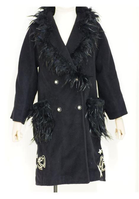 Soab black wool feathers swarovsky coat Soab Capri | Coats | 16PIUME