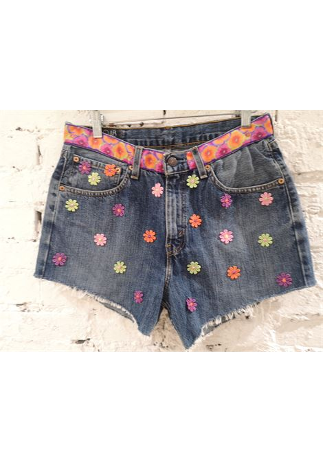 Blue denim SOAB shorts Soab Capri | Shorts | 45FUCSIA