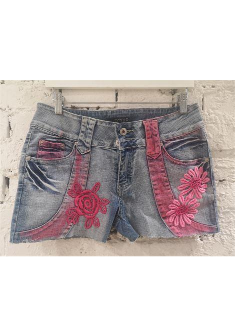 SOAB light blue pink patterns shorts Soab Capri | Shorts | 55STRACCIATO