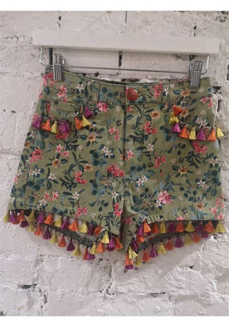 SOAB green flowers shorts Soab Capri | Shorts | 66FRANGE