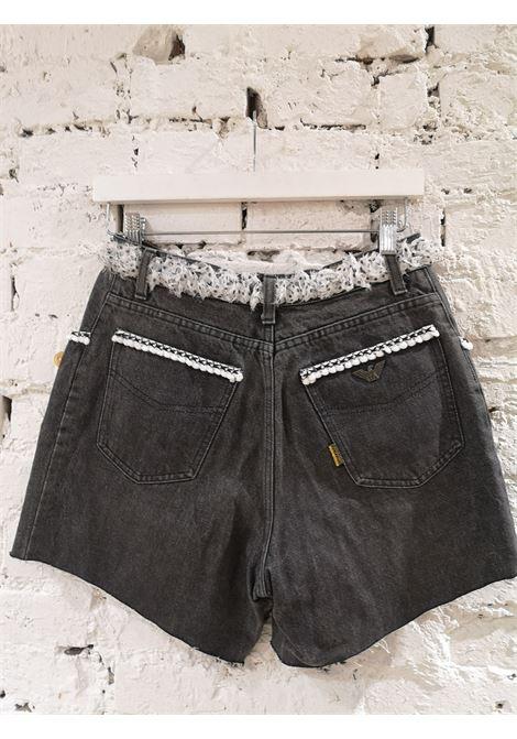 SOAB dark grey cotton denim shorts Soab Capri | Shorts | 75FRANGE