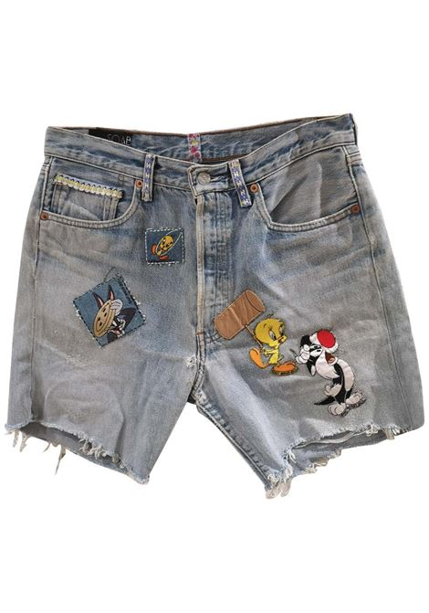 SOAB light blue looney tunes shorts Soab Capri | Shorts | 78APP.VIOLA