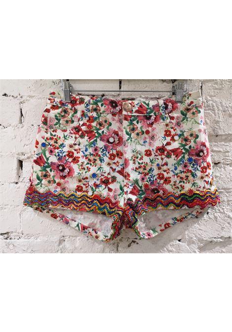 SOAB white flowers cotton beads shorts Soab Capri | Shorts | 87PAIETTES