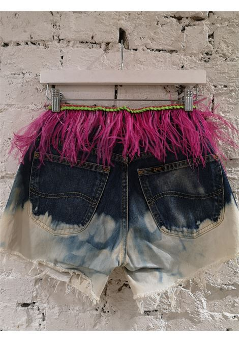 SOAB denim Betty Boop fucsia feathers shorts Soab Capri | Shorts | 88PATCHWORK