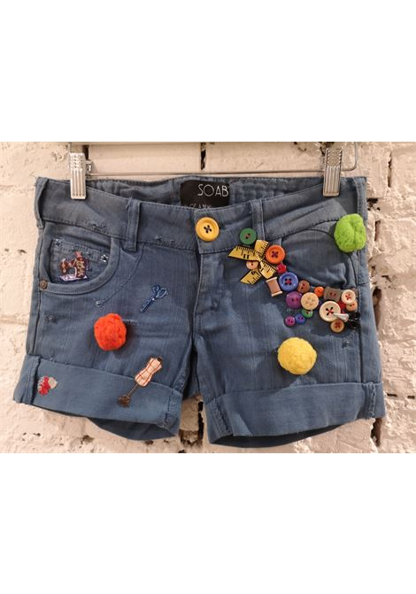 SOAB Blue cotton tailor buttons short Soab Capri | Shorts | 89BOTT