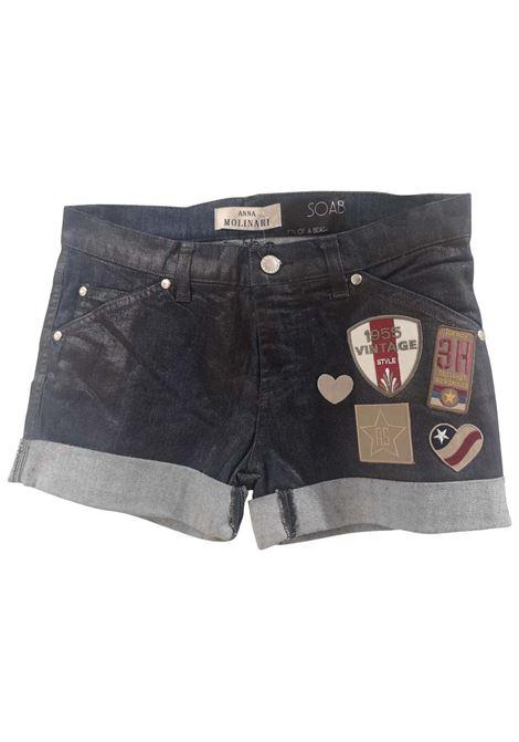 SOAB Blue patterns shorts Soab Capri | Shorts | 96AMERICA