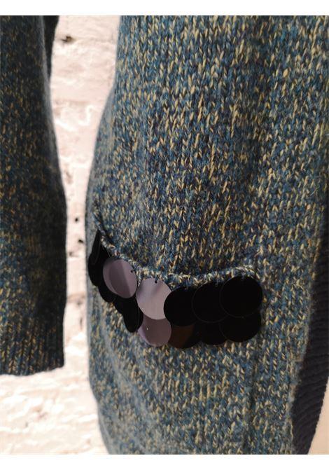 Scee Green Blue cardigan sweater VIntage | Cardigan | BL01835XSZ22BLU