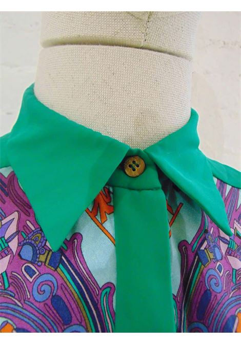 Versace Collection silk multicoloured shirt Versace | Shirts | AMGV0171000150VERDE
