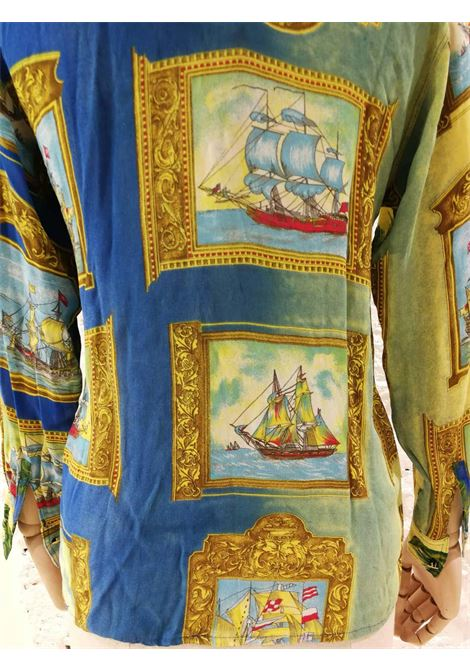 Versace Palms and Sailing Ships Shirt Versace | Shirts | CAMICIA VELIERIPALME