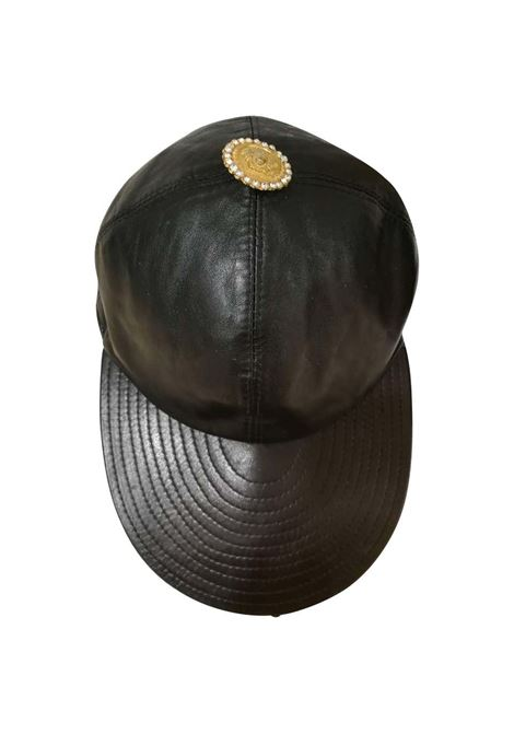Gianni Versace Black Leather Hat Versace | Hats | CAPPELLO PELLENERO