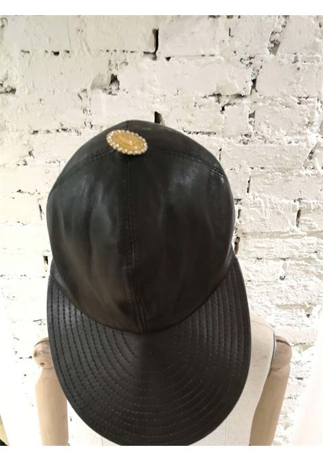 Gianni Versace Black Leather Hat Versace | Cappello | CAPPELLO PELLENERO