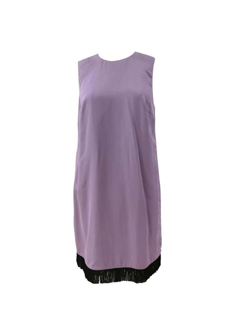 Versace Light Purple Black fringed Dress NWOT Versace | Abito | FG02A010ET5LILLA