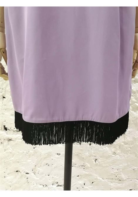 Versace Light Purple Black fringed Dress NWOT Versace | Dresses | FG02A010ET5LILLA
