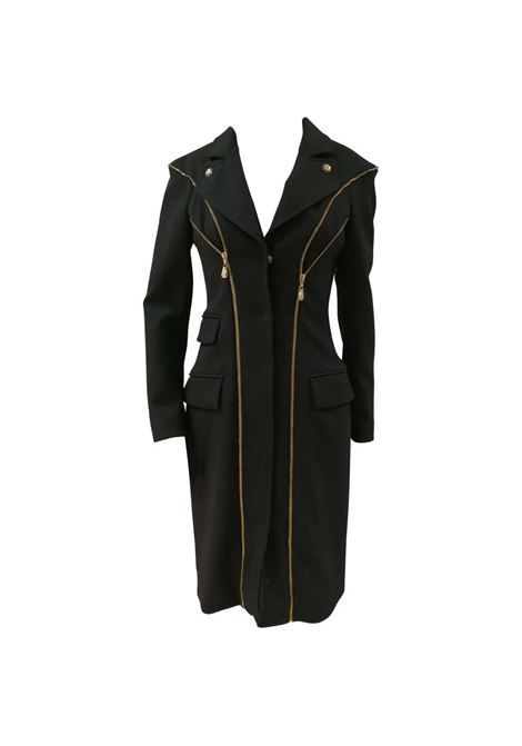 Versace Black wool Gold tone Zip Coat Versace | Cappotto | FG02A080ETNERO