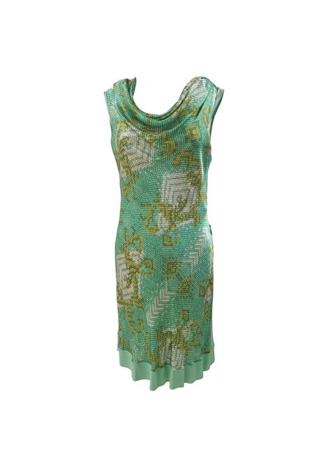 Versace Collection green dress Versace | Dresses | FG09A0100ETVERDE MULTI