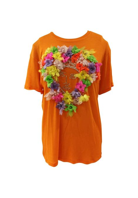 Versace Orange Cotton Logo Shirt Versace | Maglia | VXR01804ARANCIO