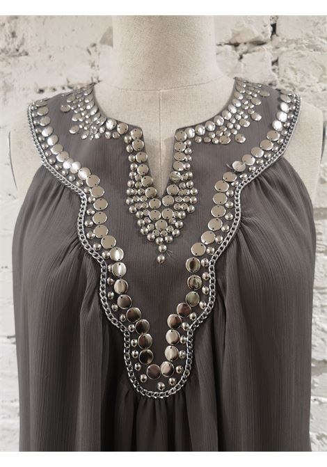 Laurie & Joe paris grey with silver beads dress VIntage | Dresses | EC01880PLOÒGRIGIO