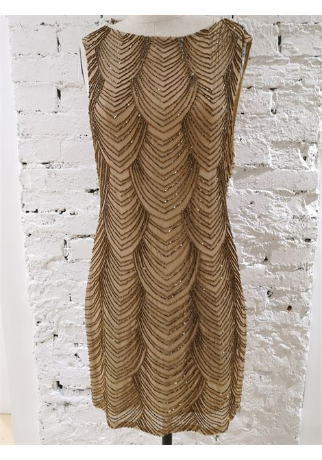 Nude silk tone with beads Dress VIntage | Abito | EC019100XSÈPalice olivia