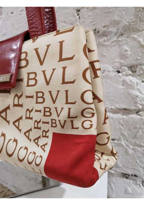 Bulgari Monogram Silk and red Leather shoulder bag Bulgari | Borsa | GM019150XMGMONOGRAM
