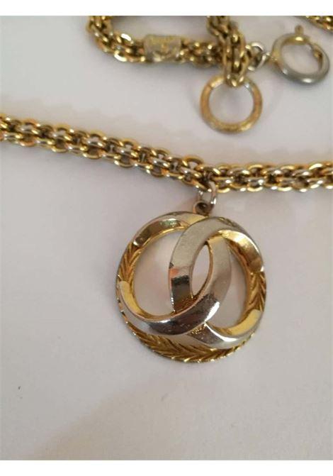 Chanel Gold Tone with CC logo Pendant Necklace Chanel | Necklaces | LE01910XS00CIONDOLO
