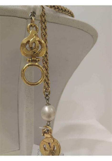 Chanel Gold tone Rhombus Necklace Chanel | Collana | LE01955SX0MEDAGLIONE