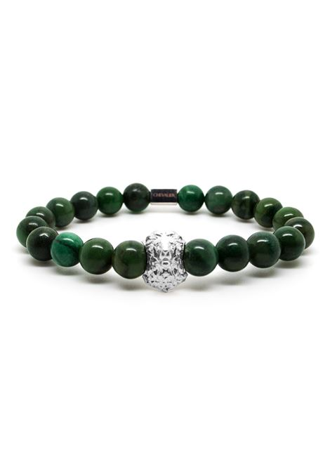CHEVALIER PROJECT | Bracelet | B139GREEN SKULL