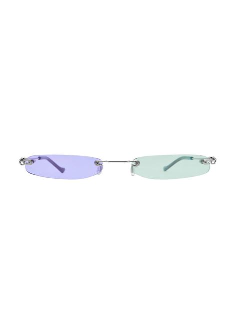 Christiana Jones Purple Pink Slim Shady sunglasses Christiana Jones | Sunglasses  | SHADY SPLITPURPLE GREEN