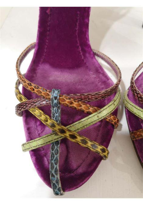 Dolce & Gabbana Python skin Velvet Sandals Dolce&Gabbana | Scarpe | DG01980XSWPITONE