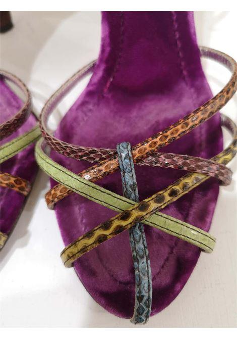 Dolce & Gabbana Python skin Velvet Sandals Dolce&Gabbana | Shoes | DG01980XSWPITONE