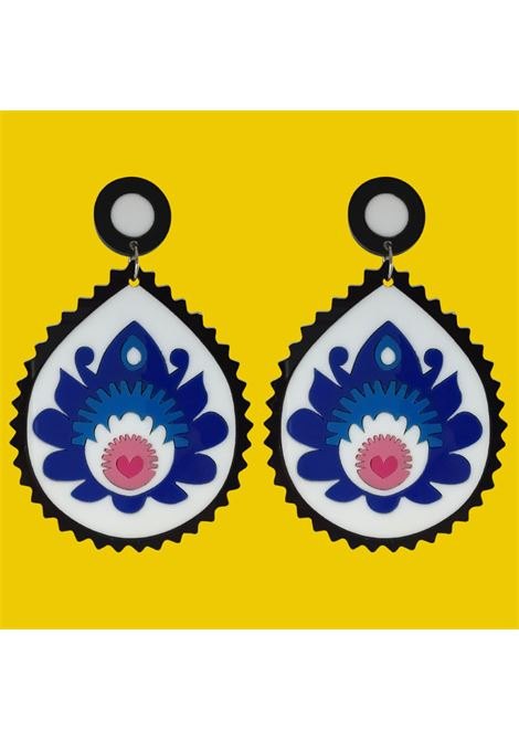 Doodad Fandango | Earrings | FOLK YOU UPBLUE WHITE
