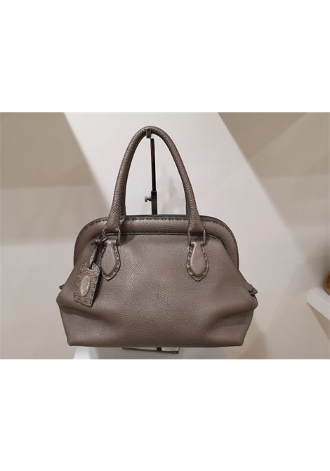 Fendi grey silver leather Selleria handbag Fendi | Borsa | MG01920Q0GRIGIO