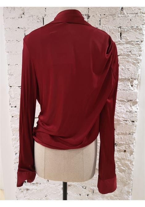 Gucci Red Viscose Shirt Gucci | Shirts | MG01960XPÈROSSA