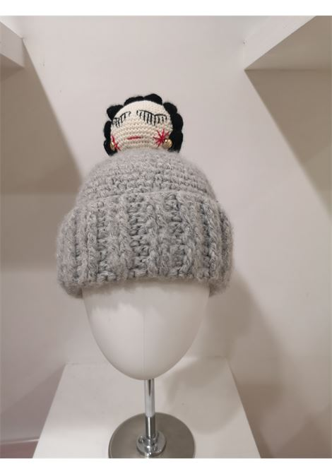 Grey wool Coco doll hat House of Muamua | Cappello | KNITGRIGIO