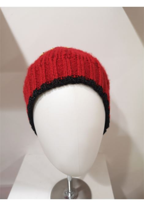 Muamua red wool Karl doll Ego beads hat House of Muamua | Hats | KNITRED