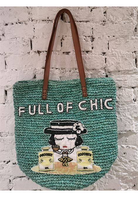 Raffia leather strap market bag House of Muamua | Bags | RAFFIAMARKETFULLGREEN