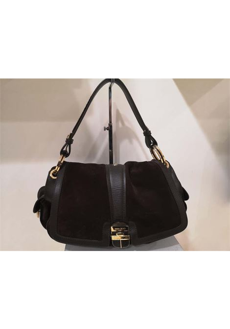 Jimmy Choo brown suede and leather handle shoulder bag Jimmy Choo | Borsa | MG01910X01MARRONE