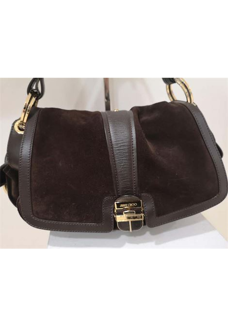 Jimmy Choo brown suede and leather handle shoulder bag Jimmy Choo | Borsa | MG01910X01MARRONE