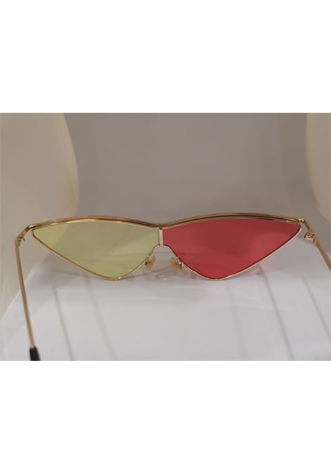 Kommafa pink yellow lens gold sunglasses Kommafa | Sunglasses  | BICROSA GIALLO