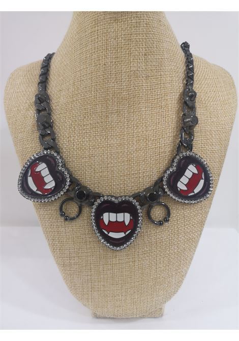 LisaC black mouth piercing necklace Lisa C. Bijoux | Collana | BABY ALOHANERO