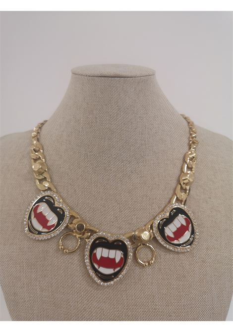LisaC gold tone mouth piercing necklace Lisa C. Bijoux | Collana | BABY ALOHAORO