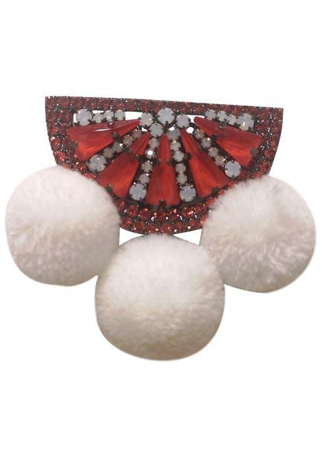 LisaC Orange stones swarovski watermelon brooch Lisa C. Bijoux | Spilla | BABY SHELL-