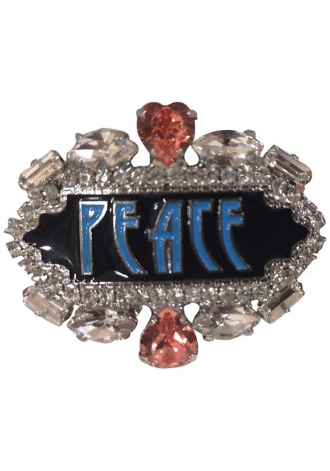 LisaC Peace swarovski brooch Lisa C. Bijoux | Brooches | BELIVE-