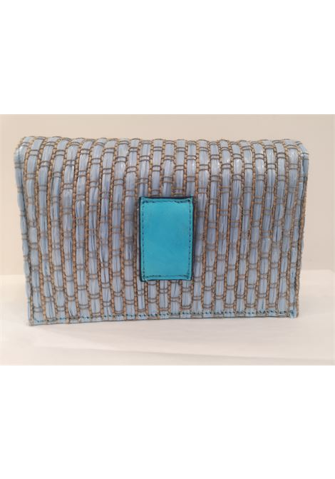 LisaC light blue rafia swarovski Shoulder bag / Fanny pack Lisa C. Bijoux | Borsa | CELESTE-