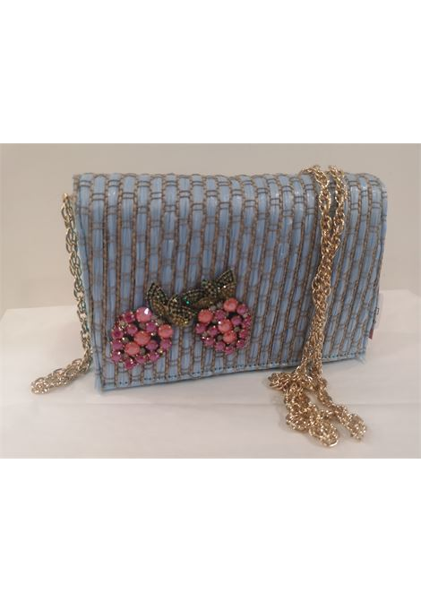 LisaC light blue rafia swarovski Shoulder bag / Fanny pack Lisa C. Bijoux | Bags | CELESTE-