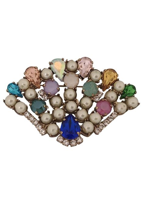 LisaC Swarovski stones shell brooch Lisa C. Bijoux | Brooches | DRINKING--