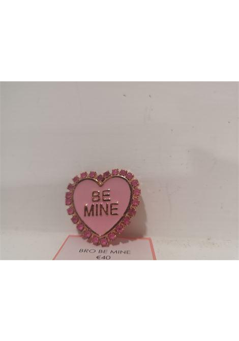 LisaC Be mine heart swarovski stones brooch Lisa C. Bijoux | Spilla | HALFMOONBEMINE